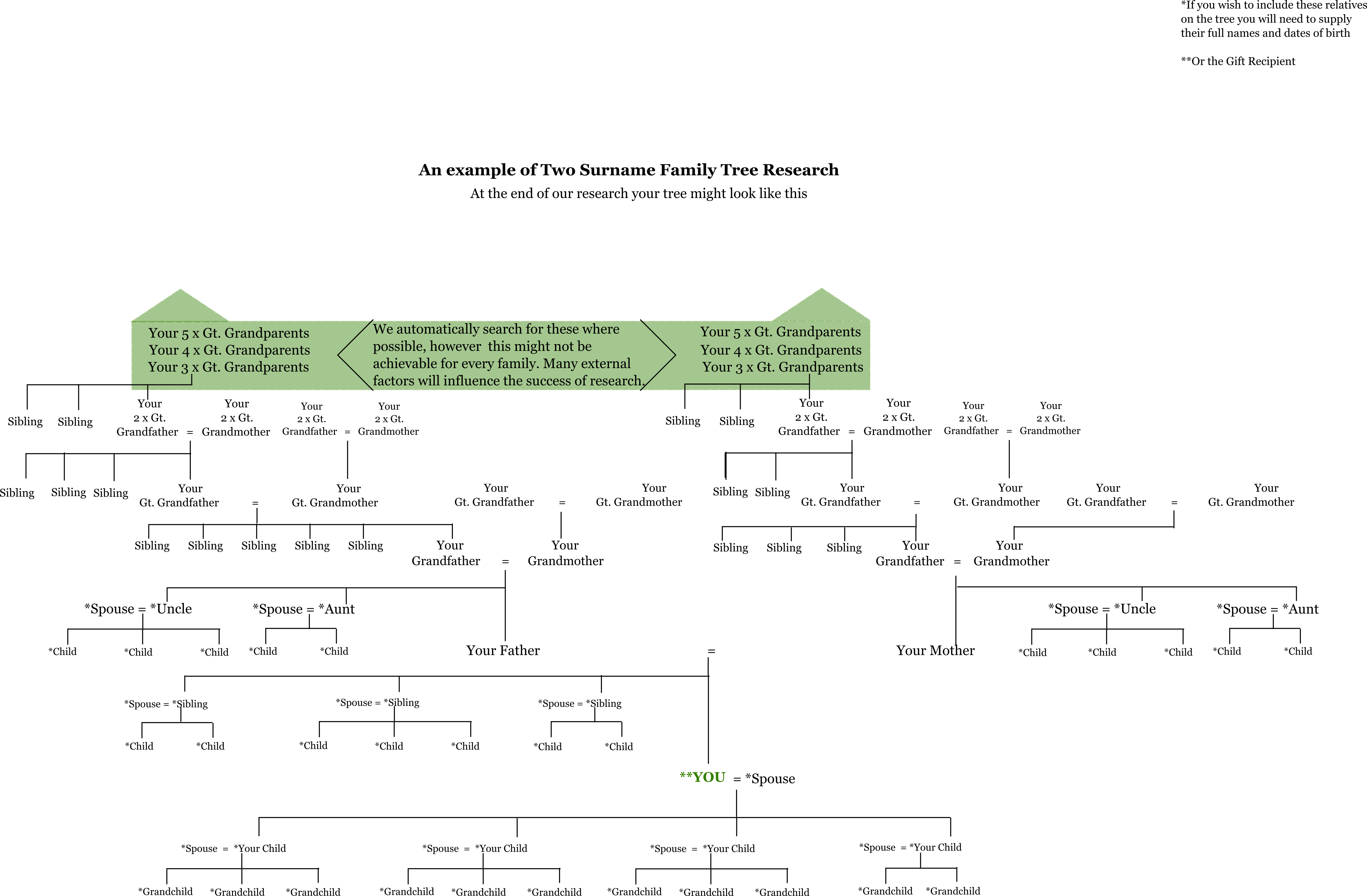 Two Surname Family Tree example illustration